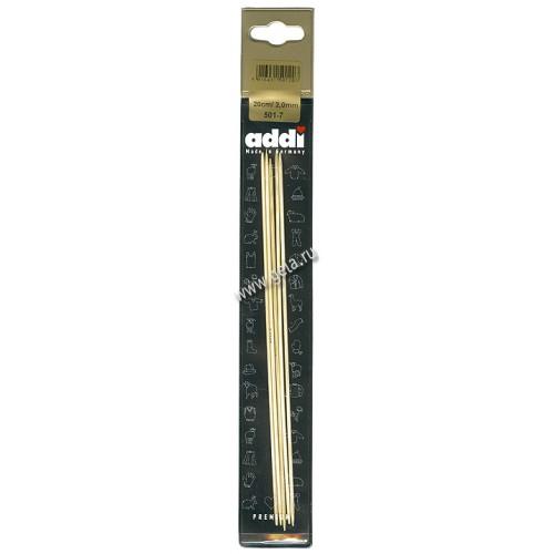 Addi 501-7/2-20 спицы чулочные бамбук