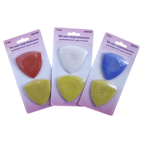 Hobby & Pro 422105 мелки портновские треугольные разноцветные