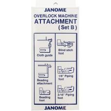 Janome 200235105 набор лапок и приспособлений B для оверлока