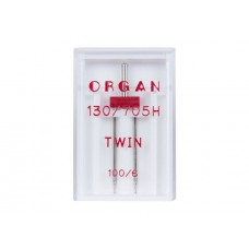 Organ игла двойная universal 100/6