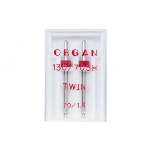 Organ иглы двойные universal 70/1.4 2 шт
