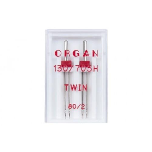Organ иглы двойные universal 80/2 2 шт