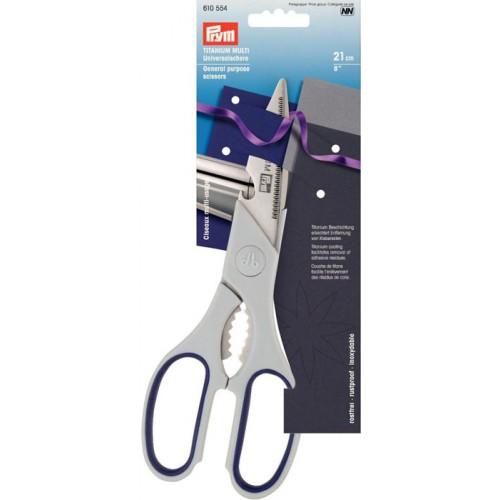 Prym 610554 ножницы универсальные с открывалкой для бутылок 21см