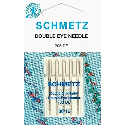 Schmetz иглы с двойным ушком 80