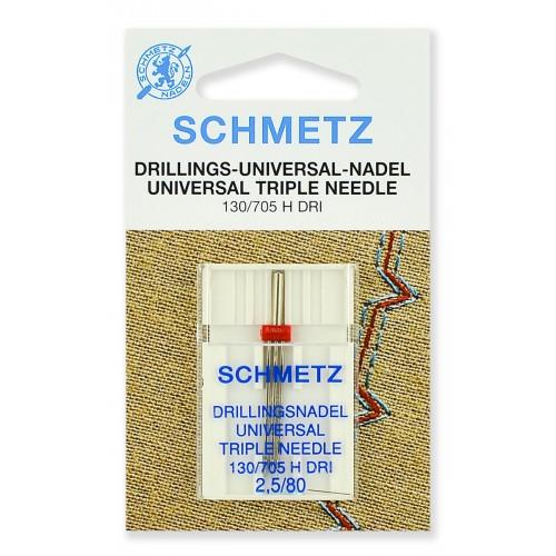 Schmetz игла тройная универсальная 80/2.5