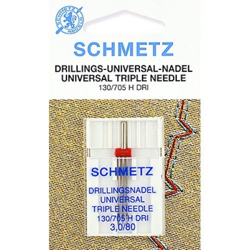 Schmetz игла тройная универсальная 80/3
