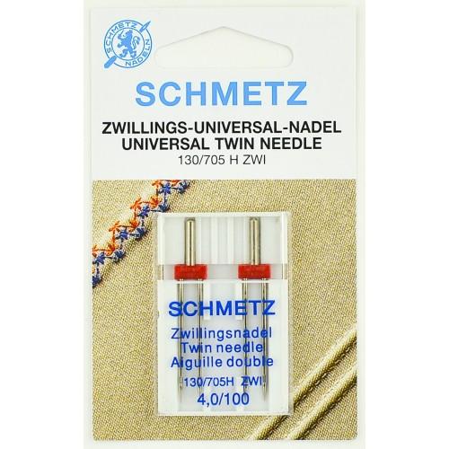 Schmetz иглы двойные универсальные 100/4 2шт