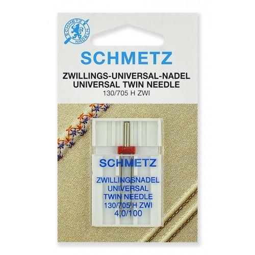 Schmetz игла двойная универсальная 100/4