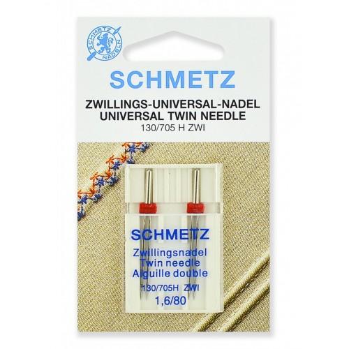 Schmetz иглы двойные универсальные 80/1.6 2шт