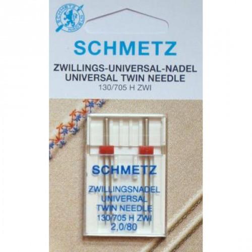 Schmetz иглы двойные универсальные 80/2 2шт