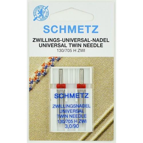 Schmetz иглы двойные универсальные 90/3 2шт