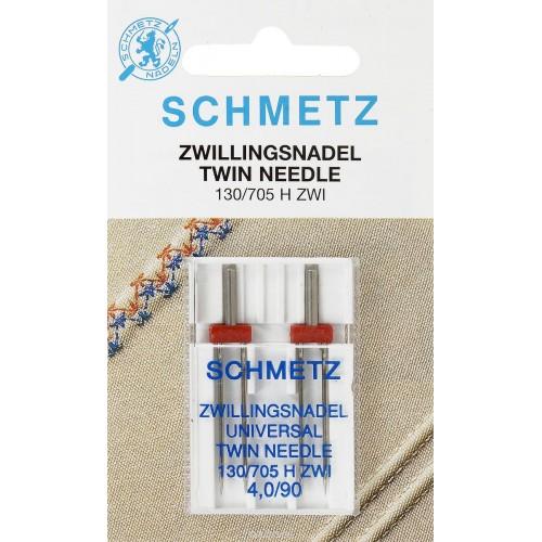 Schmetz иглы двойные универсальные 90/4 2шт