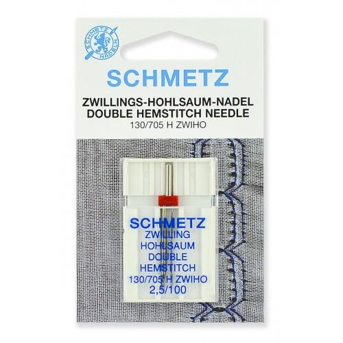 Schmetz игла двойная для мережки 100/2.5
