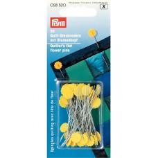 Prym 028520 Булавки для квилтинга с головкой в форме цветка 50х0,6мм в коробке 50шт