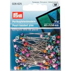 Prym 028625 Булавки с разноцветными пластиковыми головками 40х0,58мм в коробке 10г