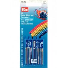 Prym 125110 Набор игл для вышивания и бисероплетения 25шт в коробочке